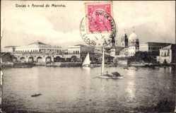 Postcard Rio de Janeiro Brasilien, Docas e Arsenal de Marinha, Blick auf den Ort