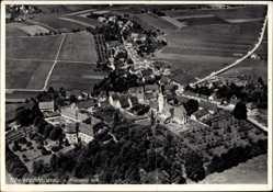 Postcard Oberstadion in Württemberg, Fliegeraufnahme von Ort und Umgebung