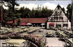 Postcard Nürnberg in Mittelfranken, Gaststätte und Café Waldschänke, Tiergarten