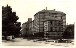 Ak Speyer, Caserne Normand, Kaserne, Vorplatz, Auto, Zaun