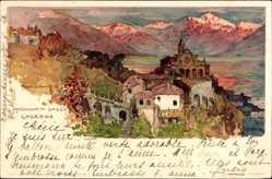 Künstler Litho Wielandt, Manuel, Locarno Kt. Tessin Schweiz, Madonna del Sasso