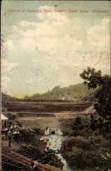 Postcard Empire Panama, Canal Zone, Interior of Camacho Dam, Talsperre