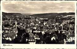 Postcard Pforzheim im Schwarzwald Baden Württemberg, Totalansicht der Ortschaft