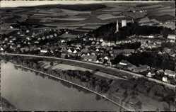 Postcard Bad Abbach im Kreis Kelheim Niederbayern, Blick auf den Ort, Fliegeraufnahme