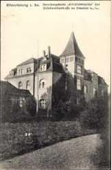 Ansichtskarte / Postkarte Zitzschewig Radebeul Sachsen, Blick auf Genesungsheim Alt Wettinhöhe