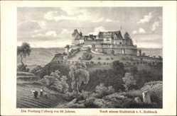 Künstler Ak Rohbock, L., Coburg in Oberfranken, Blick auf die Veste