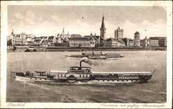 Panorama mit Rheindampfer