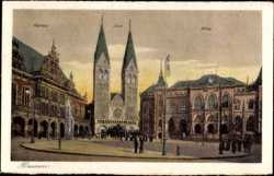 Rathaus, Dom, Börse