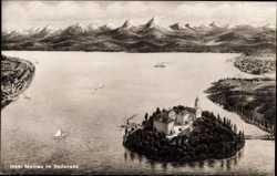 Blick auf die Insel, Alpenkette