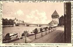 Rheinbrücke, Rheinsteig, Rheintorturm