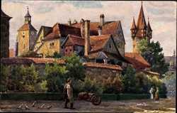 Künstler Marschall, V., An der Stadtmauer