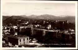 Murallas, Alhambra, Sierra Nevada