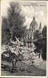 Maschpark und Rathaus