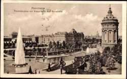 Friedrichsplatz mit Wasserturm