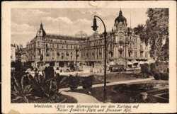 Blick vom Blumengarten auf Kaiser Friedrich Platz