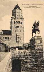 Hohenzollernbrücke, Brückenkopf, Standbild, Kaiser Wilhelm II., Reiterdenkmal