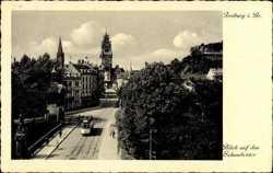 Schwabentor, Straßenbahn