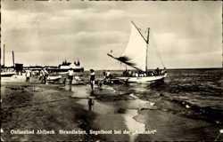 Strandleben, Segelboot