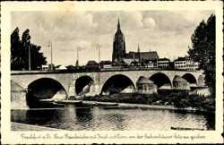 Neue Mainbrücke, Insel, Dom