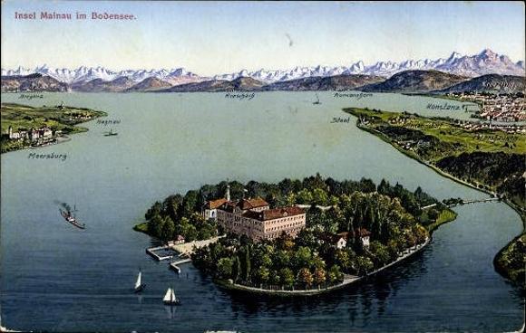 Insel Mainau Karte.10 Alte Ansichtskarte Postkarte Insel Mainau Im Akpool De